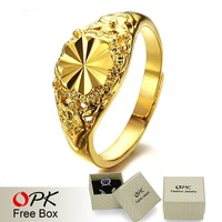 OPK JEWELRY Top Quality wedding ring  Yellow Gold White Sapphire Ring adjustable finger ring  004