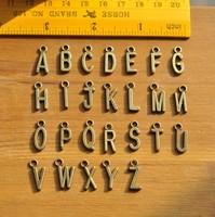 26pcs A Set Vintage 26 English Letters Pendents DIY Jewelry Accessories, Bracelet, Necklace Pendents Accessories