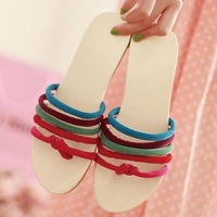 2013 angle slippers flat sandals comfortable flat small fresh sweet all-match beach