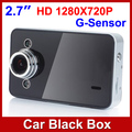"Free Shipping K6000 1280x720P Car DVR 2.7"" LCD Dashboard Vehicle Camera Video Recorder With G-sensor Drop shipping In Stock"