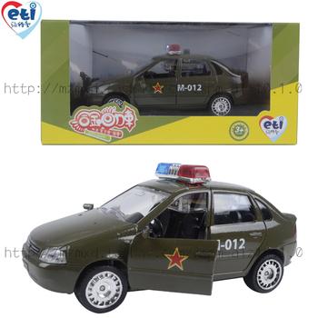 1:35 Alloy toy diecast car acoustooptical car WARRIOR cartoon police car educational toy