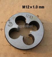 1pcs Metric Right Hand Round Die M12 M12*1.0mm Threading Machine Tools Cutting tools