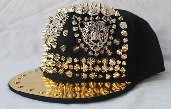 Punk rivet cap hiphop hip-hop hiphop baseball hat rivet s4