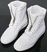 Free shipping!Warm fashion white boots, high help fashion casual shoes dress boots