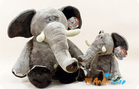 FREE SHIPPING NEW CUTE STUFFED ANIMAL DOLL 26'' PLUSH ELEPHANT SOFT TOY BIRTHDAY CHRISTMAS GIFT FOR KIDS BABY GIRLFRIEND 1301