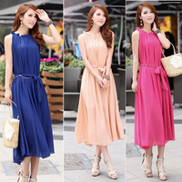 Newest women's Bohemia chiffon dress,solid long one-piece dress,Beach Full Dress,free shipping,JW-S048