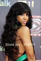 lace front human hair wig Beautiful Brazilian hair Front lace wig Natural black Body Wavy about 14- 24inches Free Shipping