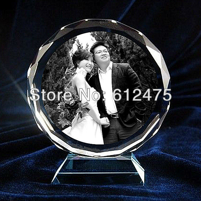 Free shipping!Custom 2D laser crystal heart shape photo frame,nice crystal image wedding gift/valentine's souvenir decor gift(China (Mainland))