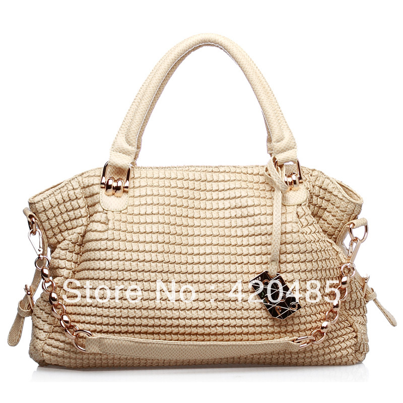 Hong Kong OPPO bag 9782-1 the European and American fashion scales lines snake chain hand shoulder handbag of b/l(China (Mainland))