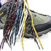 free shipping 100prs/lot  Hiking shoes laces round shoelace outdoor shoes sandals multicolour bootjacks multicolor