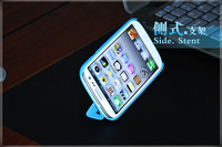 Free shipping+FOR Samsung  S3  i9300 Folding smart case Magnetic adsorption holster stents case