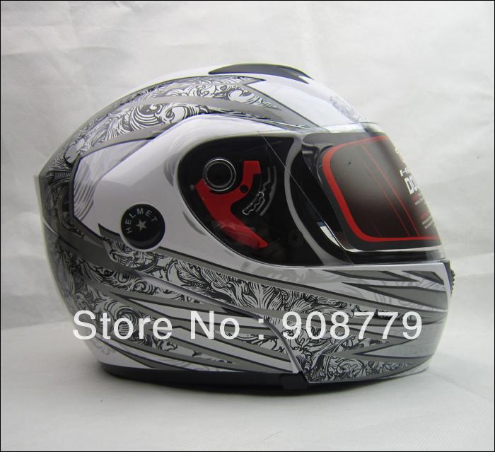 Motorcycle Helmets Dual Visor Modular Flip Up Motorcycle Helmet resistance to penetrate impact resistance White(China (Mainland))