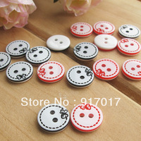Free Shipping 200pcs red black Beautiful jonadab bowknot button 1.3cm clothing buttons decoration buckle