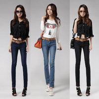 SEMIR 2013 spring elastic jeans plus size jeans pencil pants female trousers