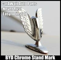 FreeShipping BYD standard metal mark car Stand Mark Car Chrome Logo Hood Ornaments Badge Emblem antirust