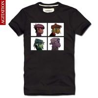 2013 men's clothing cotton short-sleeve 100% T-shirt hip-hop gorillaz 2