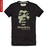 2013 men's clothing cotton short-sleeve 100% T-shirt . jimi hendrix