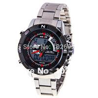 Free shipping brand hot sale WEIDE Mens Silver Alloy LCD Digital Alarm Sport Dive Wrist Watch 30M Waterproof men watches
