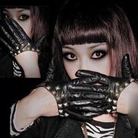 General ! ladygaga rivets leather gloves hiphop