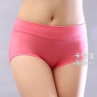 High in the waist women's bamboo fibre briefs modal panty shorts girls cotton 6 100%