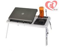 Free Shipping Laptop table bed lazy table folding computer desk double fan radiator  multifunctional laptop desk
