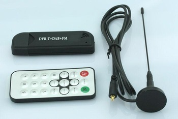 Free Shipping RTL2832U+R820T USB DVB-T HDTV Tuner Stick MPEG4/H.264 decoding dongle with FM+DAB