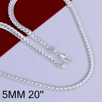Factory Price! Wholesale High Quality Fashion Jewelry Necklace 925 Silver Necklace Free Shipping N130