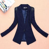 2013 spring and autumn female suit slim patchwork female blazer outerwear slim thin suit