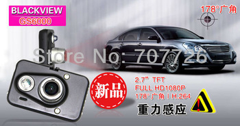 "Promotion Car DVR Recorder GS6000 with Ambarella A2S60/A5S30 + G-Sensor + 2.7"" LCD + Full HD 1080P 30FPS + Russian"