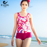 2013 new style E-Lang women's one piece set boxer swimwear sexy slim belly covered beachwear swimsuit for lady YL31305