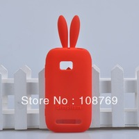 For Nokia Lumia 710 N710 Rabbit silicone cartoon case,with high quality 1pcs/lot