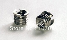 free shipping 3/8″ to 1/4″ Tripod / Monopod / Camera Screws Adapter Bushing Bushes x 2  for Photo Studio Accessories