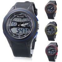 Free shipping Quality ALIKE Fashion Sport man men Watch 4 Colors With Dual Movement/Dual Time/Stopwatch/Week/Alarm/EL Backlight