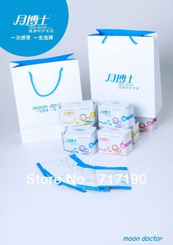 48 packs/lot High-tech Moon Doctor Anion sanitary napkins: free shipping