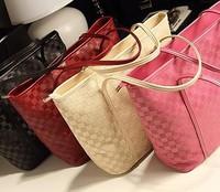 Free ship 2014 New Popular Check Restoration Big bag,Women Casual Fashion Handbags, Shoulder bags Designer Brand