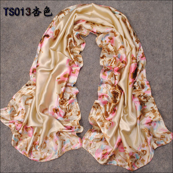 Free shipping faux silk elegant beautiful spring summer air conditioning sunscreen women's long design chiffon silk scarf SC0151