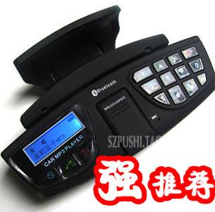 Steering wheel car bluetooth speaker phone mp3 fm transmitter car wireless earphones