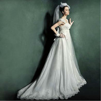 Free Shipping 2013 New Arrival Velar Bridal Wedding Dress,Wedding Gown