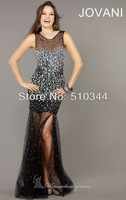 Free Shipping Custom Made H9313 scoop neckline crystal sheath short trailing design homecoming dresses short 2013 new collection