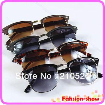 Free Shipping Fashion Sunglasses Retro Rivet Half Frame Eyeglasses Glasses Vintage New Hot 4Colors