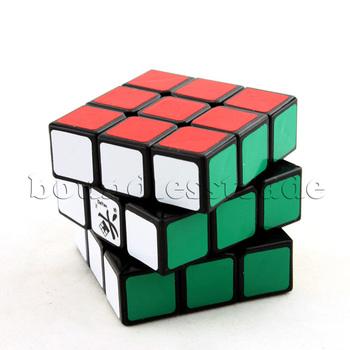 Free shipping Black Dayan Guhong 3x3x3 3x3 Three-Layer Speedcube speed magic cube puzzle_SP064