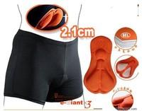 Free Shipping Men &Women Bicycle Cycling Bike Short Underwear Gel 3D Padded Coolmax Black HOT Size S M L XL XXL XXXL