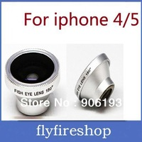 30pcs 3-In-1 Lens fisheye wide-angle macro Zoom for iPhone 4/4S/5, free shipping