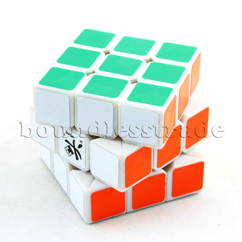Free shipping White Dayan ZhanChi 3x3x3 3x3 Three-Layer Speedcube speed magic cube puzzle_SP072
