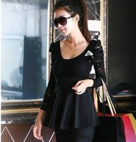 2013 the new,Long sleeve lace stitching render of autumn and winter dress,1pce wholesale,TB-032