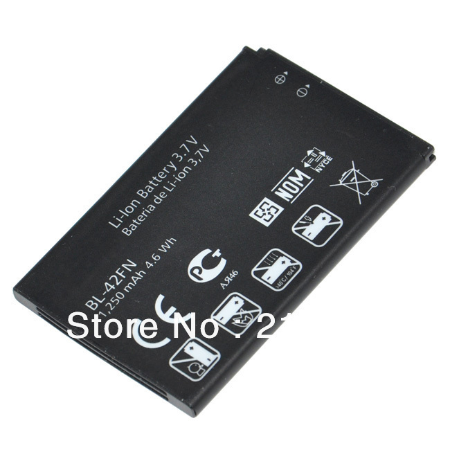 Original Standard BL-42FN 1250mah Battery For Optimus Me P350 C550 P610s P355 Optimus chat Bateria AKKU PIL ( Free shipment )(China (Mainland))