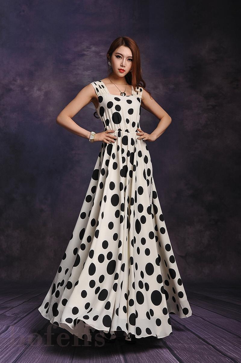 design chiffon one-piece dress plus size women maxi long bohemia dress ...