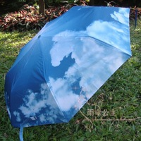 2013 blue sky umbrella automatic switch umbrella folding umbrella windproof umbrella