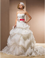 Listen ! Smelling... Yesterday Once M......Ball Gown Sweetheart Chapel Train Wedding Dress With Removable Straps
