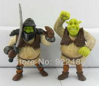 "Free Shipping 2pcs 2.75"" Shrek Small Mini action figure fighting edition"